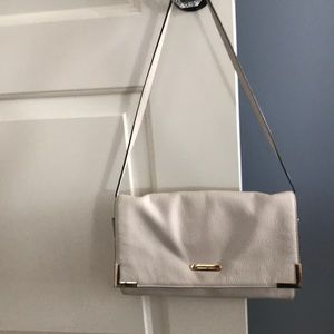 Michael Kors ivory leather shoulder bag - clutch